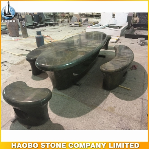 Green Forest Granite Table For Sale